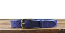 LaCeinture Magnifique Nubuck - 30mm - Electric Blue