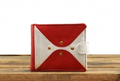 LePortefeuille Louise - Red Silver