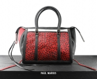 LeRive Droite M Leopard - Black / Red