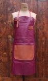Apron Leather - Plum