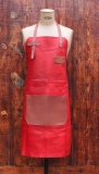 Apron Leather - Red