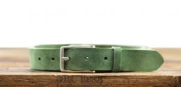 LaCeinture Magnifique Nubuck - 30mm - Vert Amande