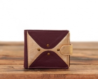 LePortefeuille Louise - Plum / Gold