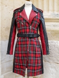 LeTrench Tartan Rouge - Taille 36