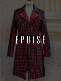 LeTrench Tartan Rouge - Taille 44