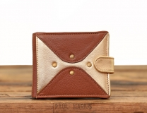 LePortefeuille Louise - Light Brown / Gold