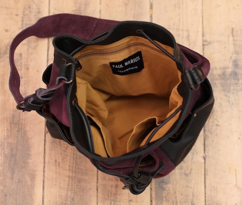 Fleur - Noir / Prune - Les sacs bandoulière - Paulmarius