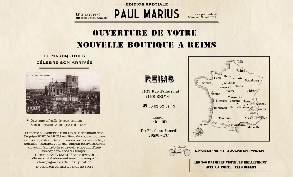 boutique paul marius Reims
