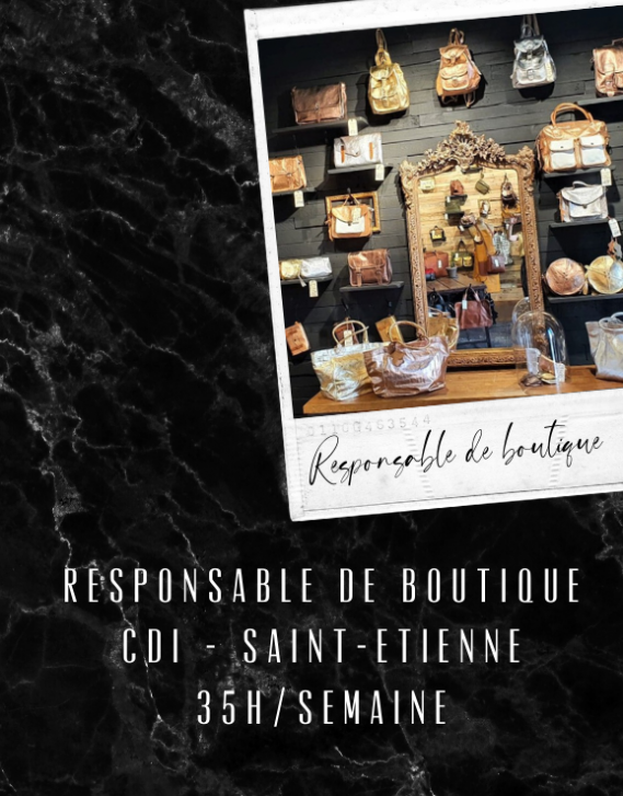 Responsable de boutique CDI - Saint-Etienne