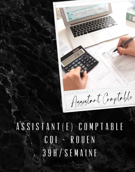 CDI Assistant(e) Comptable - Rouen
