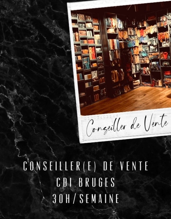 Conseiller de Vente CDI 30h - Bruges