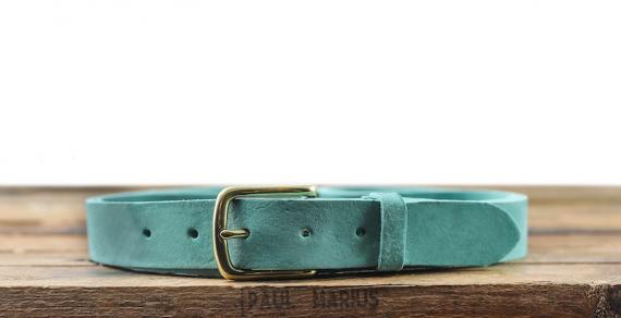 LaCeinture Magnifique Nubuck - 30mm - Bleu Turquoise