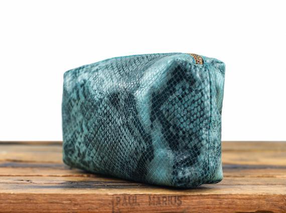 Adèle Python - Bleu Piscine