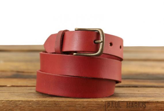 LaCeinture à Boucle - 115 cm - Rouge Carmin