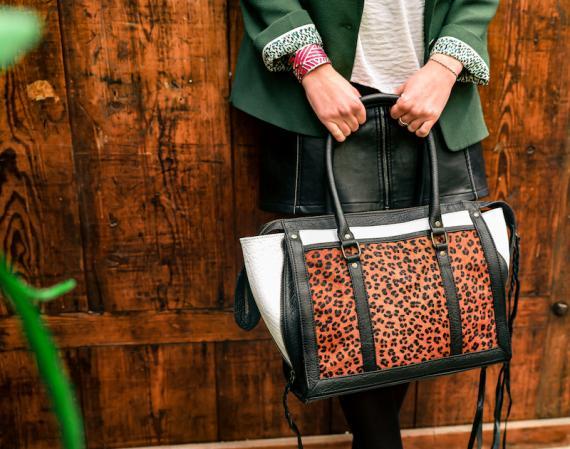 LeRive Droite M Leopard - Black / White
