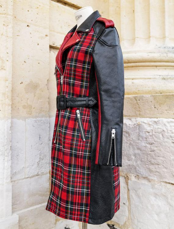 LeTrench Tartan Rouge - Taille 42