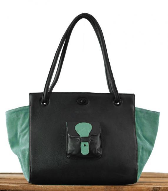 Madame. M - Noir / Vert Amande