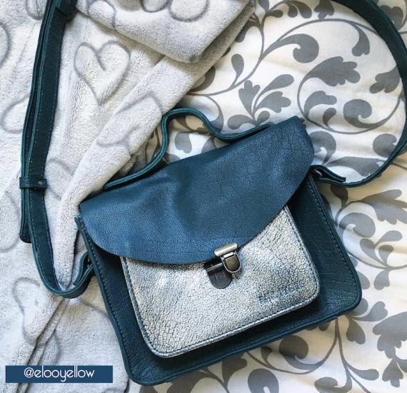 Mademoiselle George - Bleu Piscine / Argenté