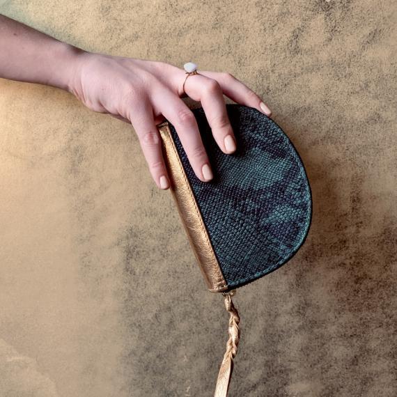 LePortefeuille Manon Python - Vert Fôret