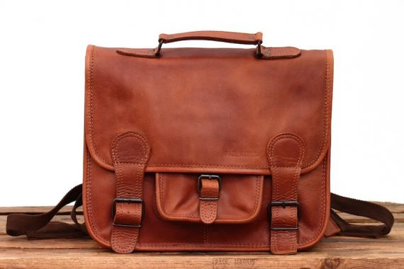 LeCartable Backpack M - Light Brown