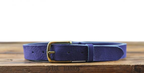 LaCeinture Magnifique Nubuck - 30mm - Bleu Electrique