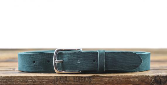 LaCeinture Magnifique Nubuck - 30mm - Bleu Piscine