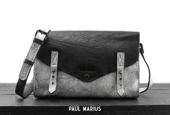 L'Indispensable - Argenté / Noir - Les sacs bandoulière - Paulmarius