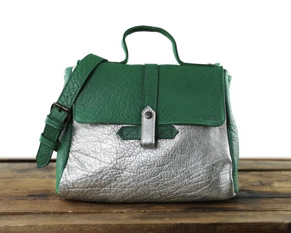LeCorneille Vert Jungle / Argenté - Les sacs bandoulière - Paulmarius