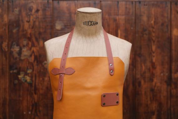 Apron Leather - Saffron