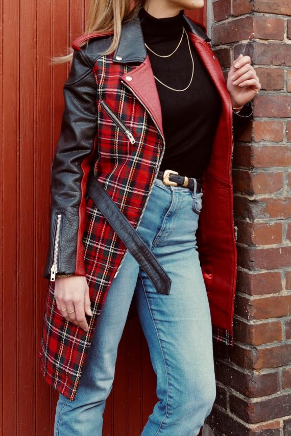 LeTrench Tartan Rouge - Taille 40