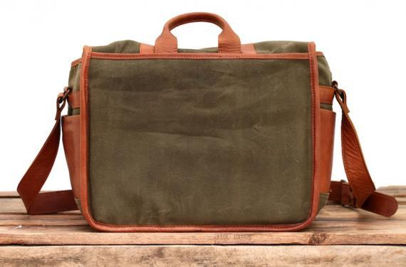 LeReporter - Canvas green khaki