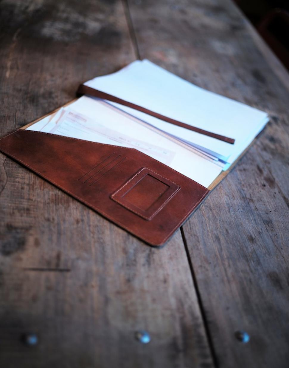 LEATHER COVER BOOK